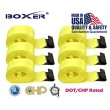 "(6) Boxer DOT 4"" X 30' Winch Straps w/Flat Hook Flatbed Truck Trailer Tie Down 5400 LB US Made"
