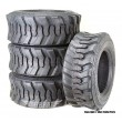 Set 4 New Super Guider Heavy Duty 12-16.5/12PR SKS1 Skid Steer Tire for Bobcat w/Rim Guard