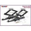 "Set of 4 LIBRA 5000 lb 30"" RV Trailer Stabilizer Leveling Scissor Jacks w/handle and socket"