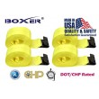 "(4) Boxer DOT 4"" X 30' Winch Straps w/Flat Hook Flatbed Truck Trailer Tie Down 5400 LB US Made"