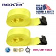 "(2) Boxer DOT 4"" X 30' Winch Straps W/ Flat Hooks Flatbed Truck Trailer Tie Down 5400 LB US Made"