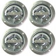 (4) Recessed Rotating Pan D-Rings Trailer RV Flush Mount Tiedown