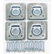 (4) Recessed D-Rings with Backing Plates & Mounting Hardware Trailer RV Flush Mount Tiedown