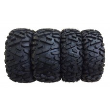 Set of 4 ATV Tires 25x8-12 Front &  25x10-12 Rear 6PR /P350