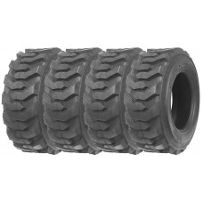 Set of 4 New ZEEMAX Heavy Duty 10-16.5 /12PR Skid Steer Tire for Bobcat w/ Rim Guard