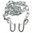 "One new 1/4"" x 48"" Grade 30 zinc plated steel trailer safety chain with 2 S hooks w/safety latches"