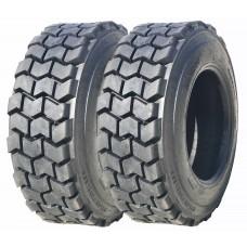 2 New ZEEMAX Premium Super Duty 10-16.5/10PR L4 Skid Steer Tires w/ Rim Guard