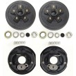 "Set 2 New 10"" X 2-1/4"" trailer brake Drum Kit 5 on 4.5"" w/ Brake Assemblies for 3500 lbs axle"