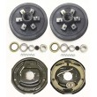 "Trailer 6 on 5.5"" B.C. Hub Drum Kits with 12""x2"" Electric Brakes for 5200-6000 Lbs Axle Heavy"