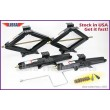 "Set of 4 LIBRA 5000 lbs 24"" RV Trailer Stabilizer Leveling Scissor Jacks w/ handle and socket"