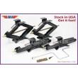 "Set of 4 LIBRA 5000lbs 20"" RV Trailer Stabilizer Leveling Scissor Jacks w/Handle & Power Drill Socket"