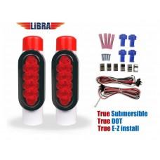 LIBRA Boat Trailer Guide-on Post / Pipe Guide Light Set LED Submersible DOT EZ Install