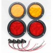 "2 Red + 2 Amber 4"" Round 10 LED Trailer Lights Surface Mount"
