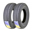 Set 2 Free Country Premium Trailer Tires ST 205/75R14 8PR LRD D Steel Belted Radial w/Feautred Scuff Guard