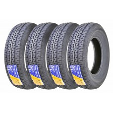 Set 4 Premium Free Country Trailer Tires ST/205 75R15 / 8PR Load Range D Steel Belted Radial w/Scuff