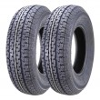 Set of 2 Premium Free Countty Trailer Tires ST185 80R13 Radial 8PR LR D w/Scuff Guard