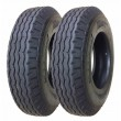 Set 2 ZEEMAX Heavy Duty Highway Trailer Tire 8-14.5 14PR LR G